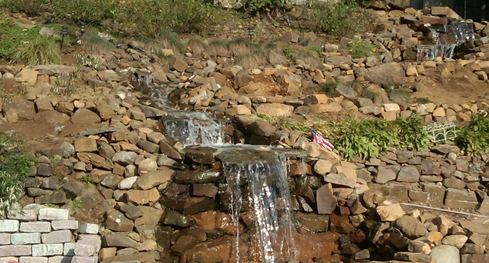 Cannizzaro Landscaping Waterfall Design
